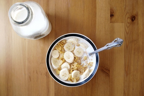 cereal with banana