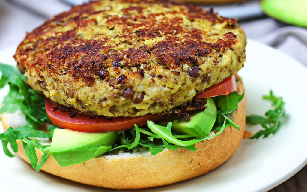 Cauliflower-Veggie-Burger